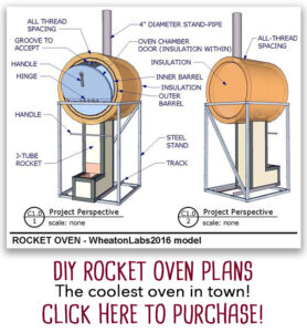 DIY rocket oven plans